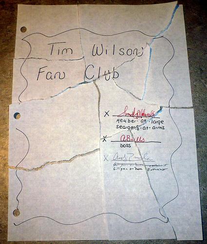Tim Wilson Fan Club Is No More