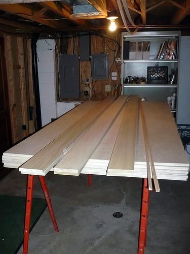 Built-in Bookcase/Window Seat Construction