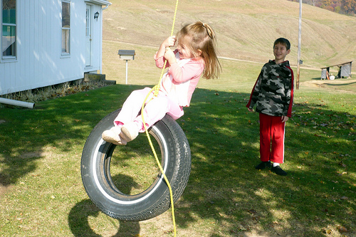 Alana on the Tire Swing