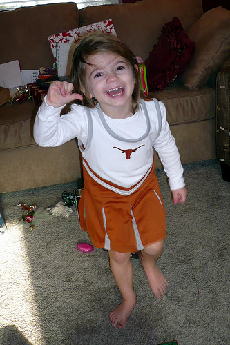 Alana as a Texas Cheerleader