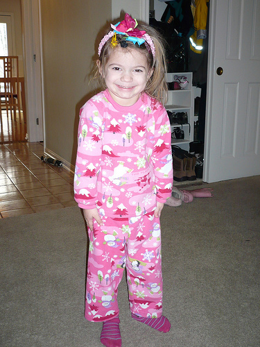 Alana's pajama day at school