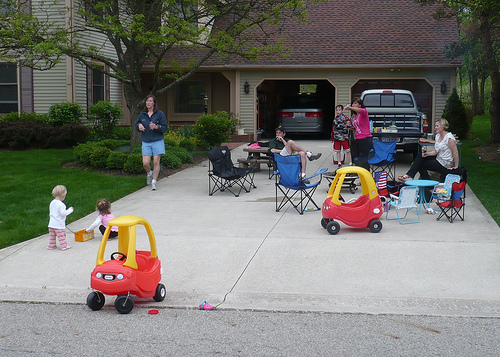 Friday Evening in the Wilsons' Driveway