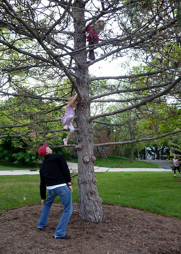 Two Girls Go Up a Tree