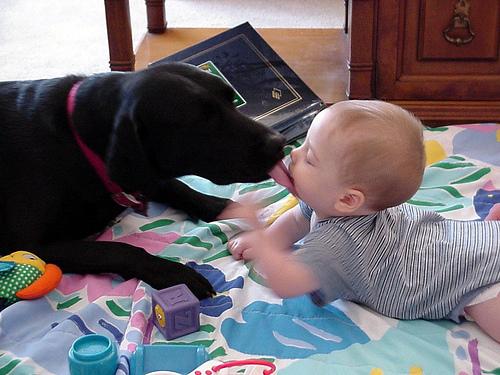 Elwyn gives a young Benton a kiss