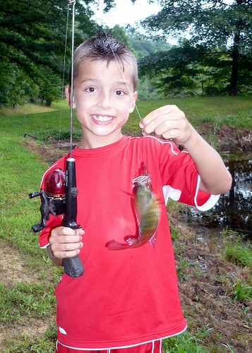 Carson with a Fish