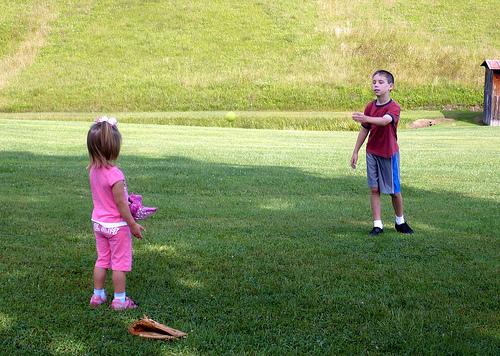 Teaching Alana to Catch