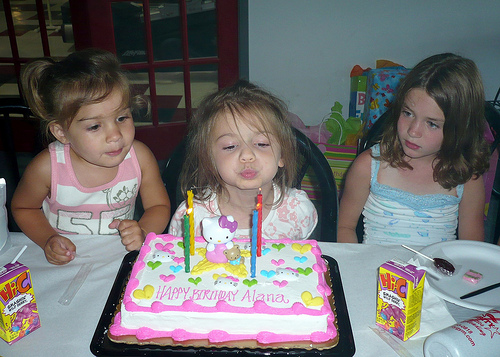Alana blows out her candles