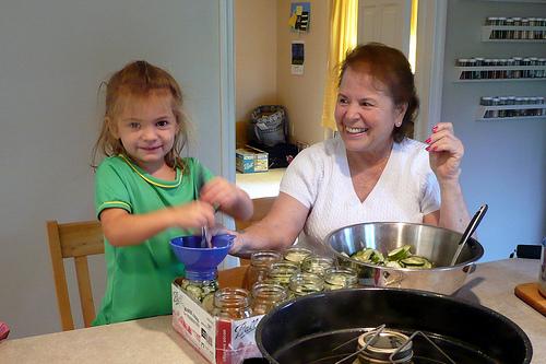 Making Pickles with Grandma