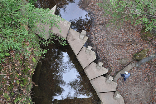 Looking Down from the A-Frame Bridge