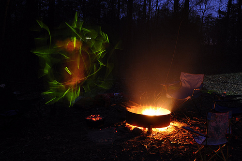 Slow Shutter Speed and a Willing Son