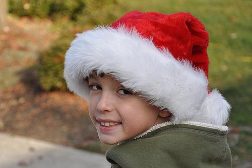 Carson in His Santa Hat