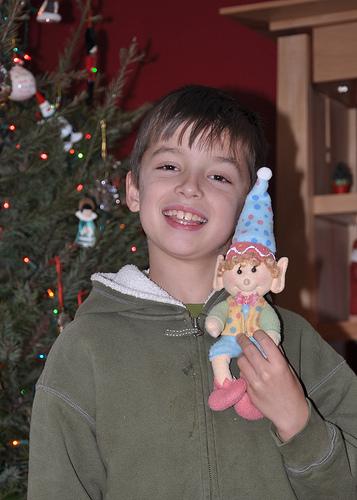 Carson with his magic elf