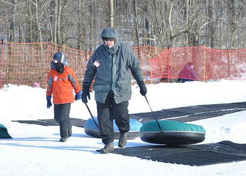 Benton and Boppa after a Snow Tubing Run