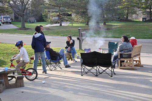 A Neighborhood Cookout in Honor of Benton's Birthday