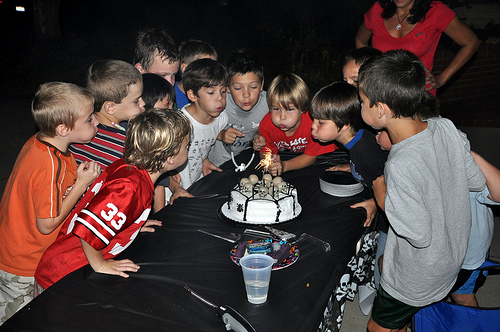 Blowing Out the Candles (and Sparkler)