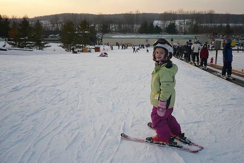 Alana Ready to Head Down Bunny Hill