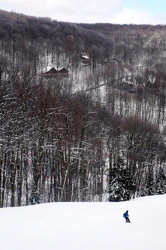 Carson snowboards down Northwind