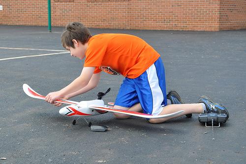 Benton Prepping His RC plane