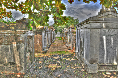Lafayette Cemetery with a Little HDR Enhancement