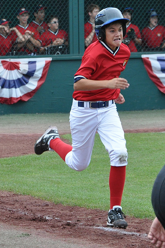 Jack en route to first base
