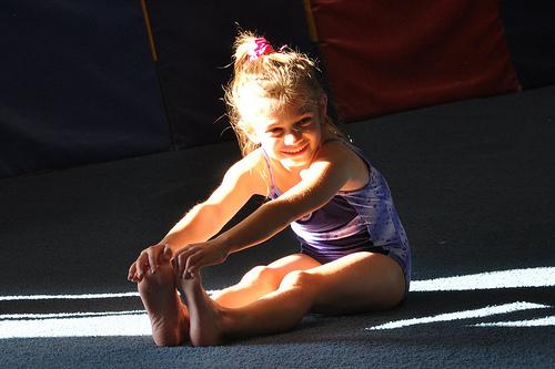 Alana stretches
