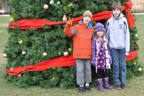 Three Kids at Columbus Commons