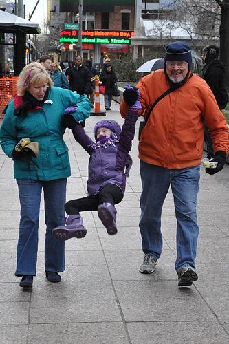 Swinging Betwixt Willing Grandparents