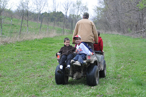 Carson and Andrew on the 4-wheeler