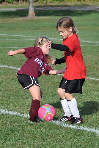 Alana plays soccer