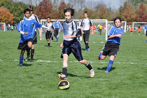 Benton plays soccer